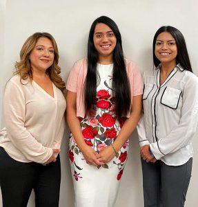 Myrna Ramirez, Paralegal; Addie Rodriguez, Legal Assistant; Maggie Gonzalez Legal Assistant;